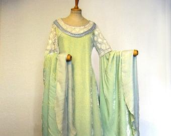 Kleid der Seidensamt Elfen Brautkleid Kleid Arwen Herr Ringe Maßanfertigung 8Own0Pk