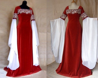 "Wedding dress elf Dress ""Red Rose"" Elf Lord of the Rings Arwen"
