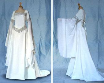 Bride Dress Elf Dress medieval Daria