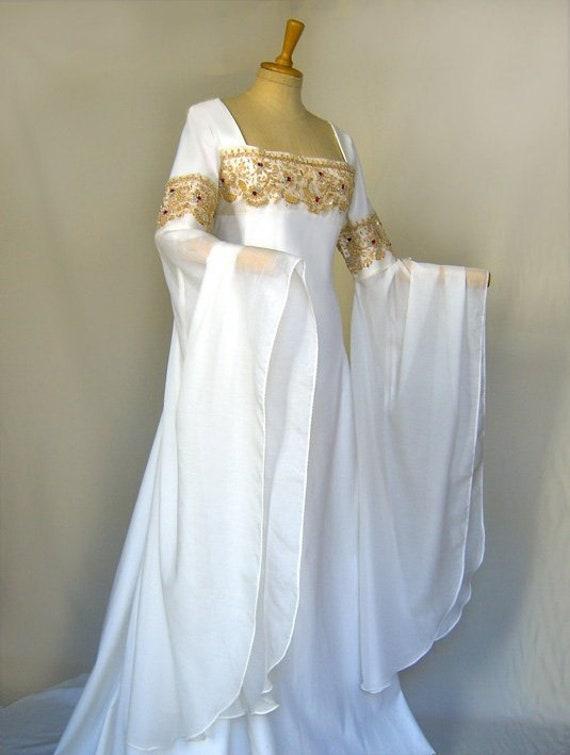 Elves Dress Medieval Wedding Dress Lotr Calissa