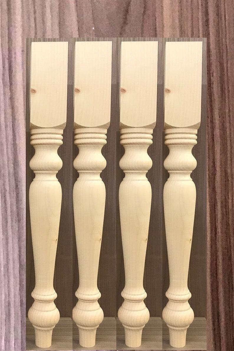 Set of 4 variation table legs bench legs coffee table legs bun feet-sofa legs Knotty Pine