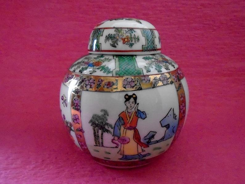 China Famille Rose Porcelain handmade painting beautiful girl jar