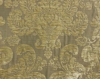 Wild Floral Woven Damask Upholstery Fabric By The Yard Etsy