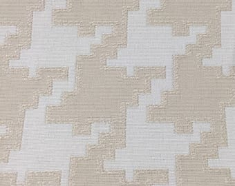Houndstooth upholstery fabric etsy white and cream houndstooth upholstery fabric by the yard gumiabroncs Image collections