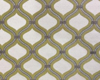 Chartreuse, grey, beige, moroccan pattern -