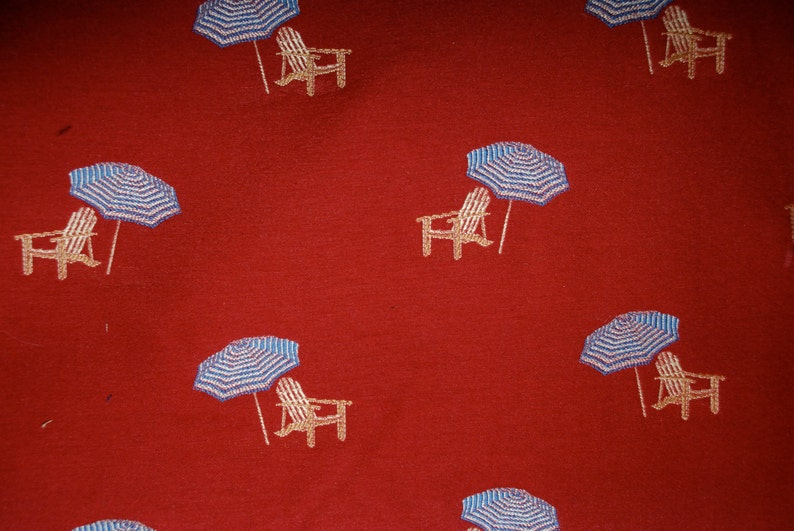 Groovy A Day At The Beach Fabric Beach Decor Fabric Coastal Fabric Beach Umbrella Red And Blue Beach Fabric Unemploymentrelief Wooden Chair Designs For Living Room Unemploymentrelieforg