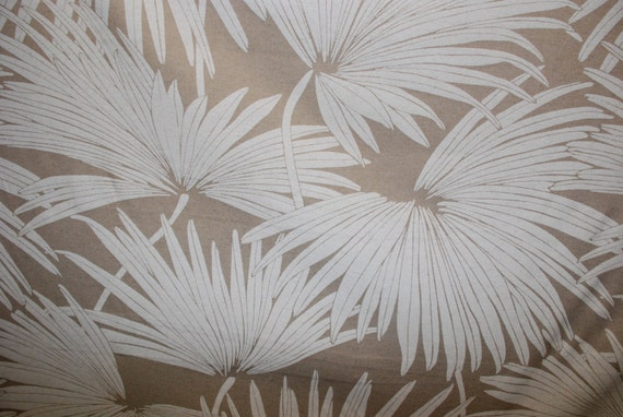 Linen Palm Tropical Upholstery Fabric Upholstery Fabric By Etsy