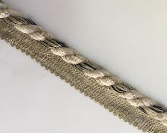 Cream Black and Taupe Cord - Pillow Edging - Designer Accent Trim