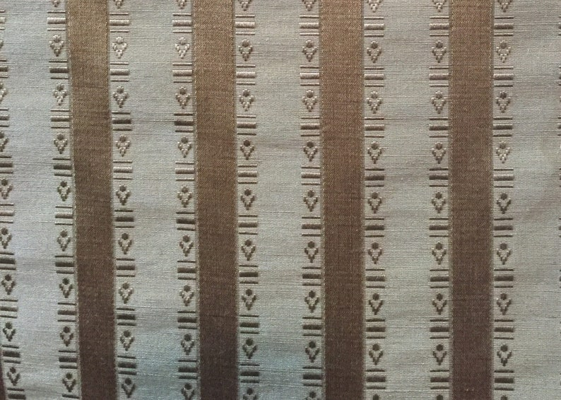 Golden Silk Stripe Fabric By The Yard