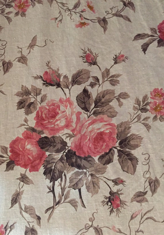 French Country Rose Floral Fabric Upholstery Fabric By The Etsy