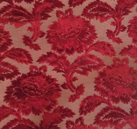 High End Deep Red Velvet Upholstery Fabric Upholstery Etsy