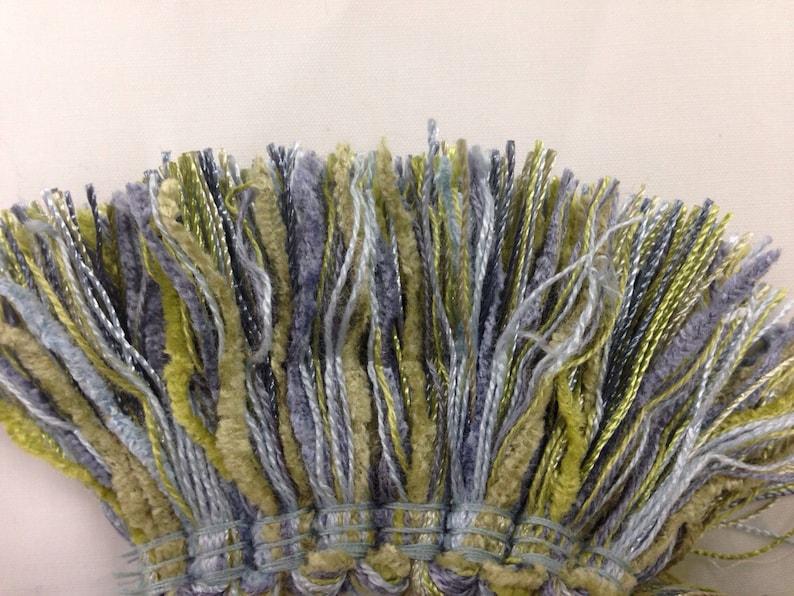 Seaside Brush Fringe Blue and Green Brush Fringe Full Trim Fringe By The Yard