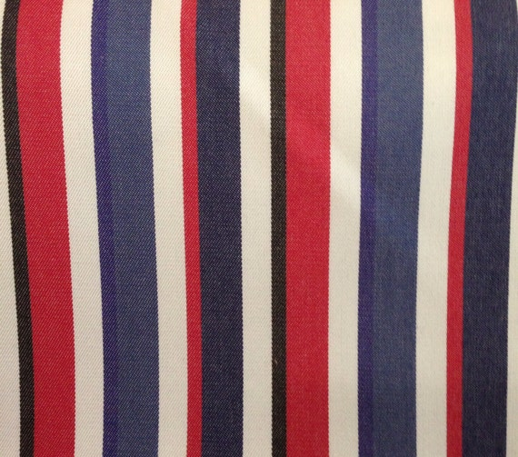 Red White Blue And Black Stripe Upholstery Fabric Fabric By Etsy