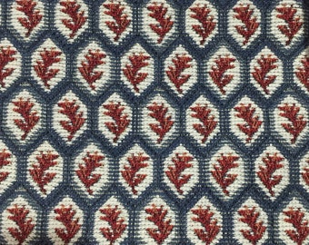 Red, White, and Blue Geometric - Upholstery Fabric By The Yard