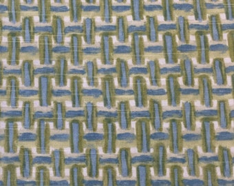 Baby Blue - Green Geometric - Upholstery Fabric by The Yard - Home Decor - Robert Allen