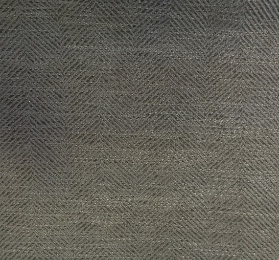 Modern Grey Colored Herringbone Fabric Upholstery Fabric By Etsy