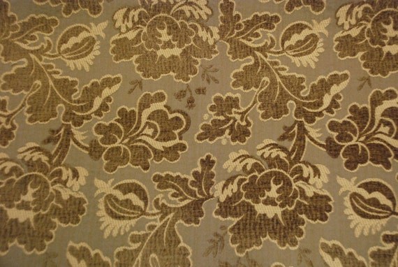 Shades Of Brown Floral And Vine Upholstery And Home Fabric Etsy