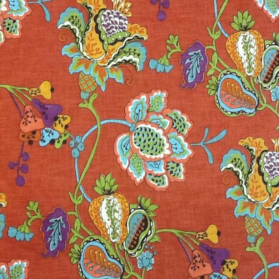 Bright Multicolor Floral Fabric Home Decor Fabric