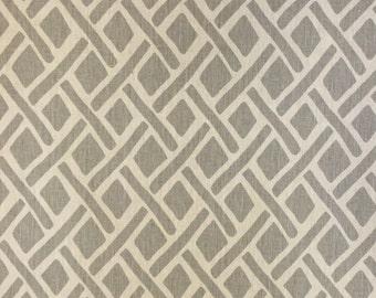 Light Grey Geometric - Upholstery Fabric by the Yard
