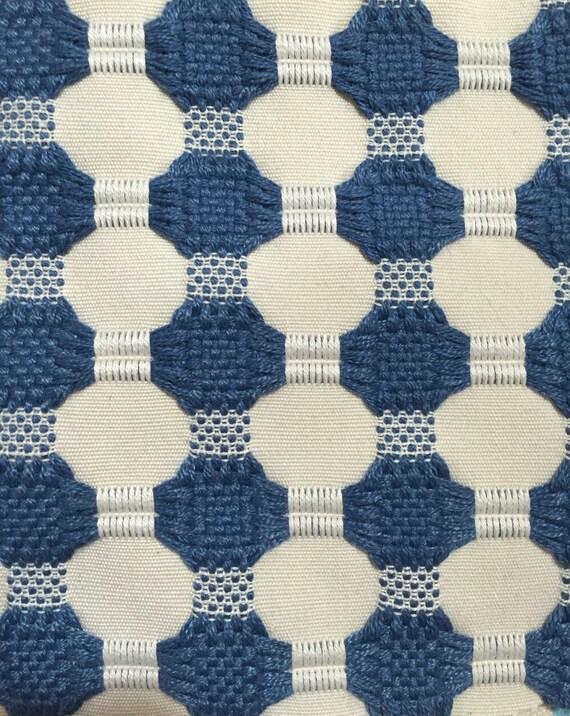 Woven Navy Dot Modern Upholstery Fabric Geometric Upholstery Etsy