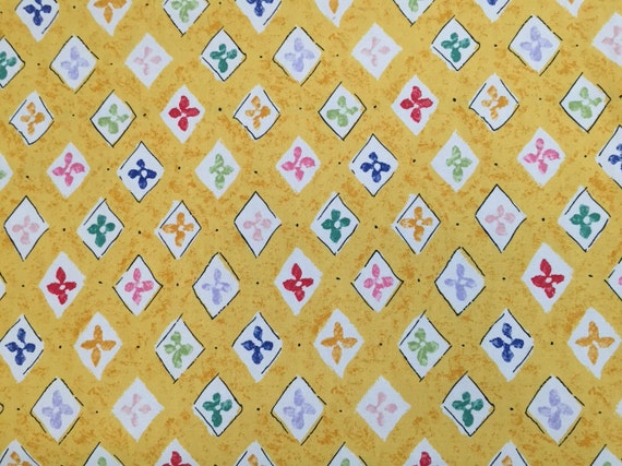 Lavender Red Light Green Upholstery Fabric By The Yard- Geometric Pink White Diamond Yellow Fun Whimsical Fabric