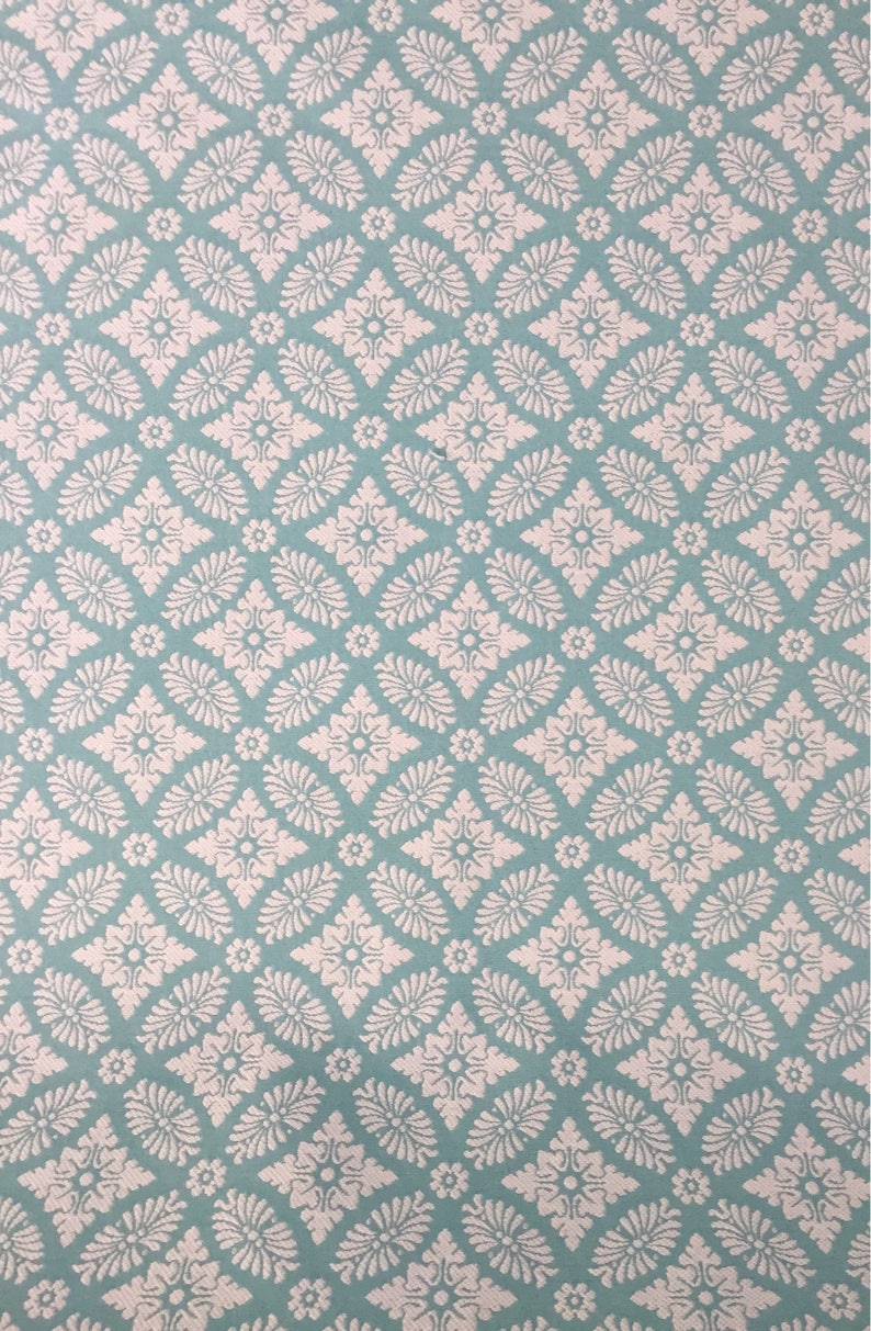 Caribbean Blue Upholstery Fabric By The Yard Diamond Medallion