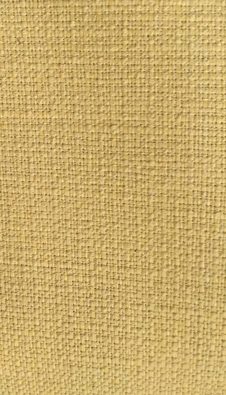 Yellow Essence Solid Upholstery Fabric By The Yard Woven Lemon-drop