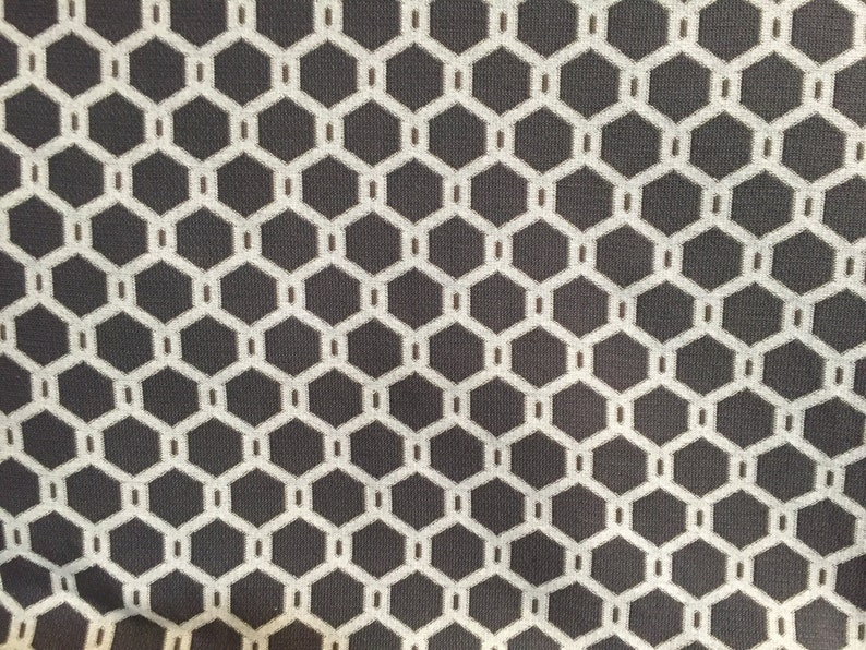 Upholstery Fabric by the Yard Gray Honeycomb Pattern