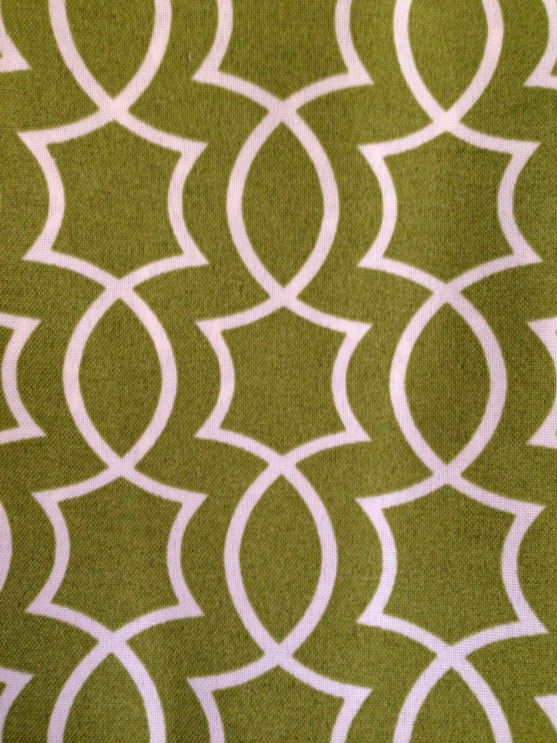 FABRIC SALE  Green and White Geometric Outdoor Fabric  image 0