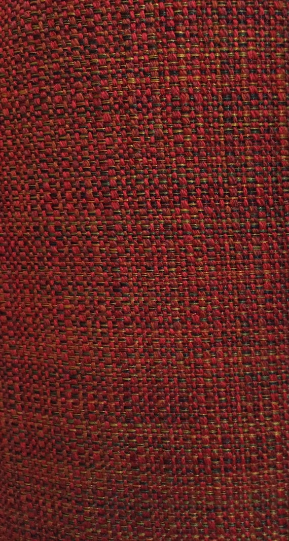Red Tweed Upholstery Fabric By The Yard   Woven Upholstery Fabric   Sofa  Fabric   Traditional Upholstery Fabric