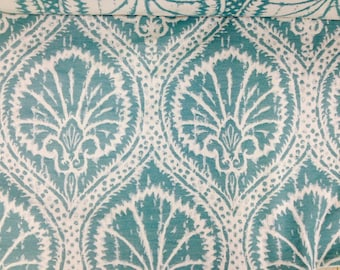 Turquoise  Sea Fan - Upholstery Fabric - Turquoise Upholstery Fabric - Turquoise Pillow Covers