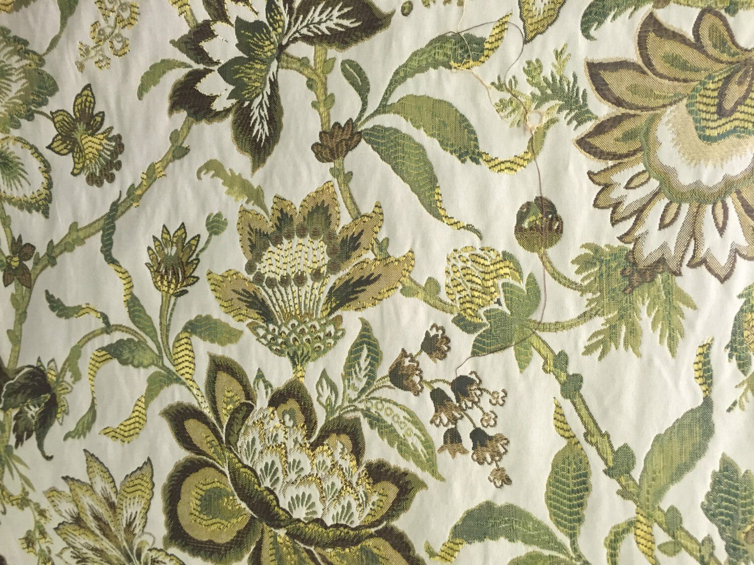 Green and Brown Jacobean Upholstery Fabric Upholstery ...