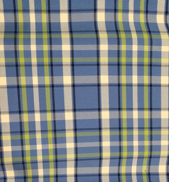 Bold Blue Green Plaid Upholstery Fabric Upholstery Fabric Etsy