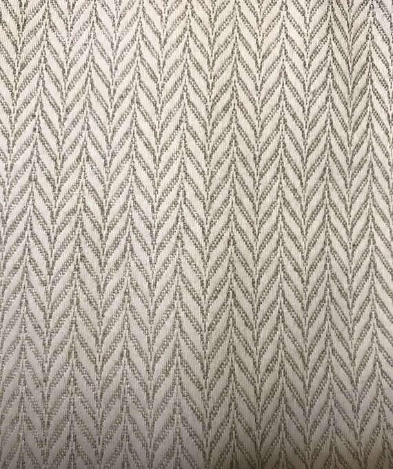 Taupe Herringbone Neutral Wintrop Taupe Upholstery Etsy