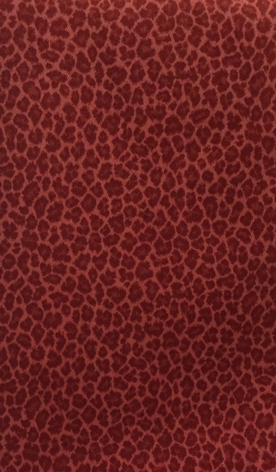 Small Red Leopard Print Fabric Animal Print Upholstery Etsy