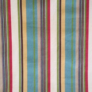 56in W x 1.16 Y Textured Cream and Shimmering Pale Gold Stripes 1pc Upholstery Fabric Vintage 70s