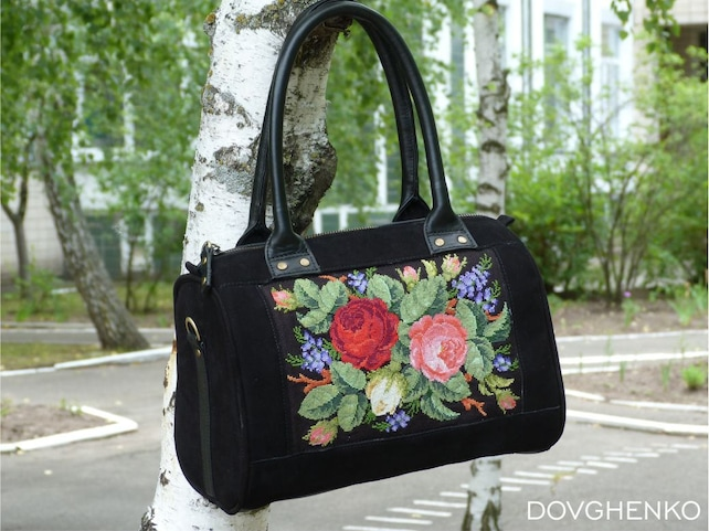Embroidery Handbag Cross Stitch Embroidery Bag Embroidered Etsy
