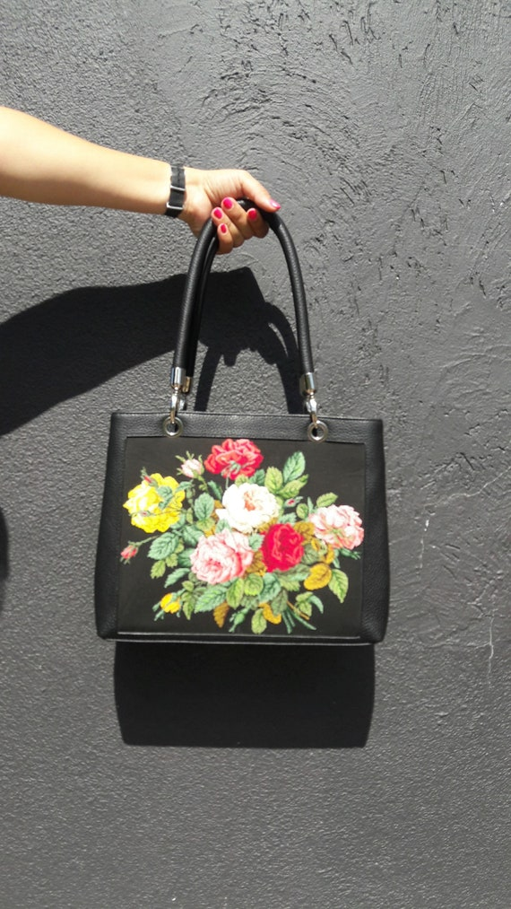 Cross Stitch Embroidery Bag Embroidered Handbags Hand Etsy
