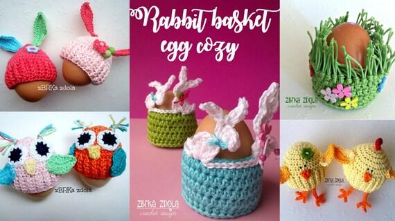 Egg Cozy Bundle Easter Crochet Patterns Etsy