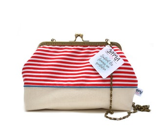 small red sailor style shoulder bag