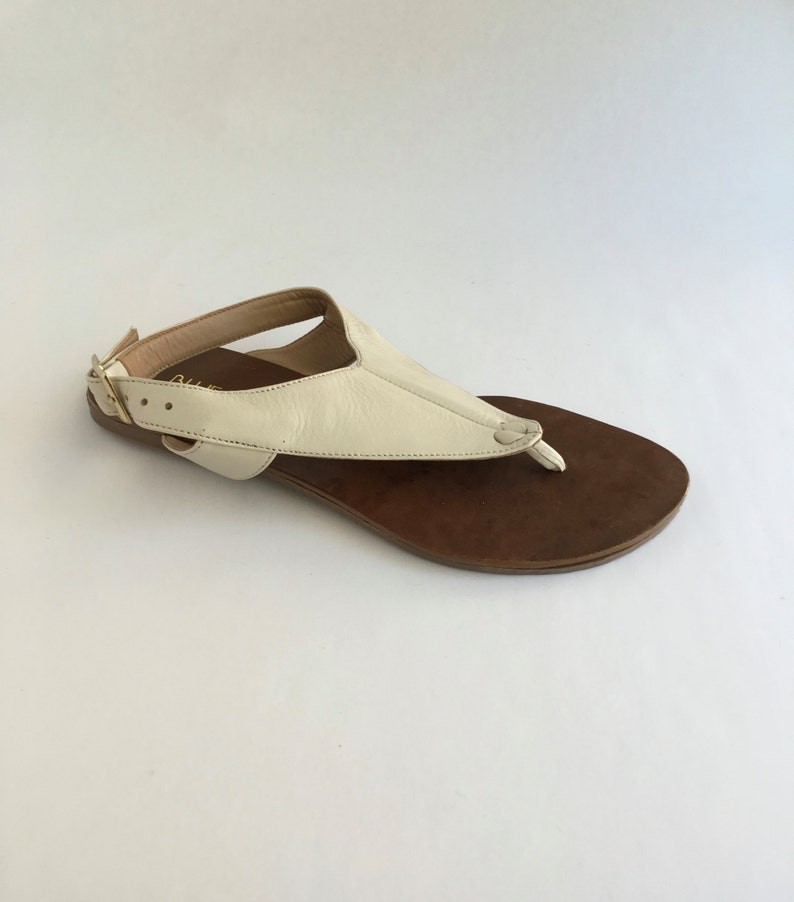 Brazilian Slingback For Women White Leather Sandals In c3S54AjLqR