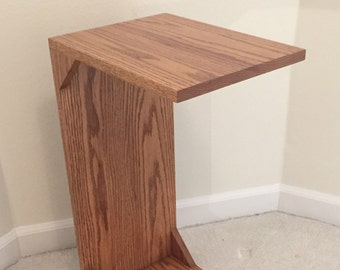 Solid Oak C-Table