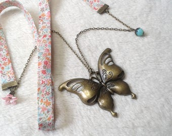 Liberty pretty pastel Butterfly Necklace