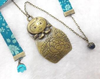 Liberty Jolie matryoshka necklace turquoise