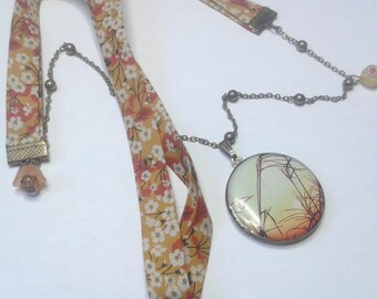 Liberty sunset necklace * picture holder *.