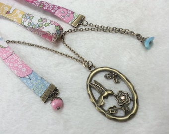 Multicoloured Liberty Hummingbird humming-bird necklace