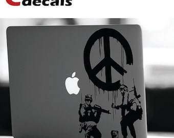 Peace Soldiers by Banksy vinyl decal