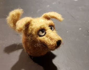 Needle felted retriever - free shipping