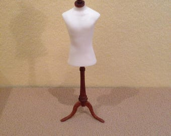 Dolls House 1/12th Scale  Mannequin Lady on stand for bedroom or shop.