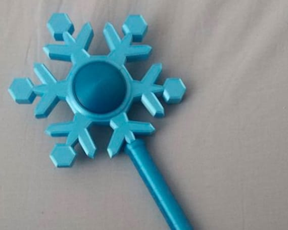 Animal Crossing Inspired Snowflake Shaped Ice Magic Wand Cosplay Prop